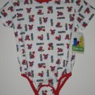 New Sesame Street BODYSUIT ELMO Blocks Alphabet Size 18M 18 Months Shirt