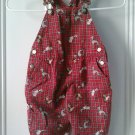 USED GYMBOREE OVERALLS Bibs X-Small XS 18M 24M 18 24 Plaid Red Fire Dog