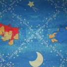 Used Disney WINNIE THE POOH TWIN FLAT SHEET Sheets Moon Sweet Dreams Nighttime