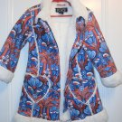 Used The Children's Place TCP Taggle COAT Jacket Size 4 Floral Flower Faux Fur