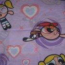 USED POWERPUFF GIRLS TWIN FLAT Sheet Heart Lavender