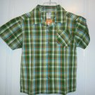 New GYMBOREE Everglades Polo SHIRT TOPS Sz 6 Plaid Green Orange Boy