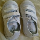 New GYMBOREE Sneakers SHOES Sz 7 Boys White Velcro