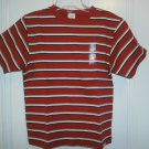 New GYMBOREE Spring Training SHIRT TOPS Sz 6 Orange Stripes Short Sleeves