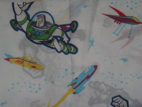 New BUZZ LIGHTYEAR TWIN FLAT Sheet Rocket Spaceship Disney Home
