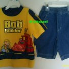 New BOB THE BUILDER Shirt Tops Shorts SET Sz 4 Muck Bird Yellow Construction