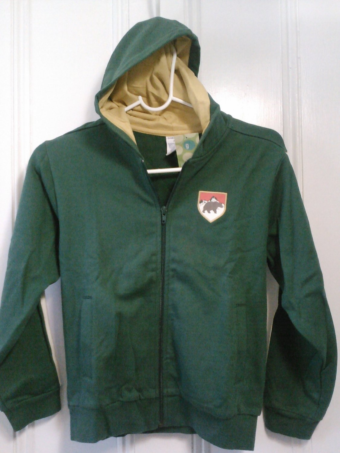 New GYMBOREE JACKET Hood Mountain Green 7 BEAR Hoodie Grizzly Peak Vintage Ski