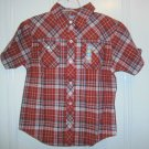 New GYMBOREE Wild West Polo SHIRT TOPS Sz 6 Plaid Red