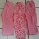 3 USED Okie Dokie Athletic Works Sz 3T Pink Fleece PANTS Girls