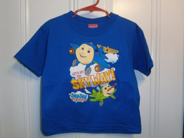 New JAYJAY The Jet Plane Jay Jay SHIRT Tops Size 3T Boy Blue Airplane