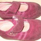 USED STRIDE RITE SHOES Sz 7 W 7W Dark Pink Suede Girl