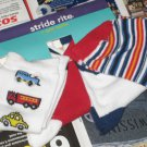 New 4 PAIR SOCKS Stride Rite Car Train Stripes Sz 5 6x