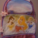 New Disney Store Princesses Aurora Belle BACKPACK Bag Pink Rainbow Castle