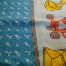 USED Bob the Builder TWIN FLAT Sheet Sheets Blue Lofty Muck Dizzy Roley Scoop