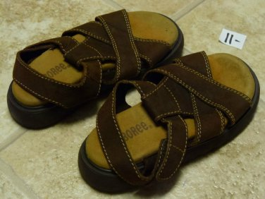 USED GYMBOREE SANDALS Sz 11 Brown Shoes Big Boys