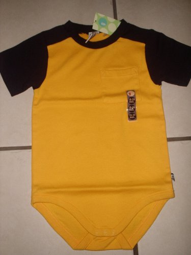 New GYMBOREE BODYSUIT Shirt 18 24 24M Yellow Blue Boy