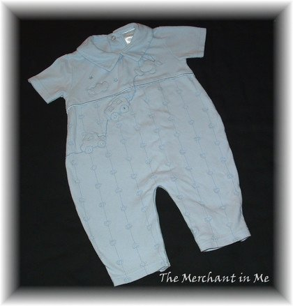 Infant Baby Boy Blue Romper Miniclasix 9 m HCTS