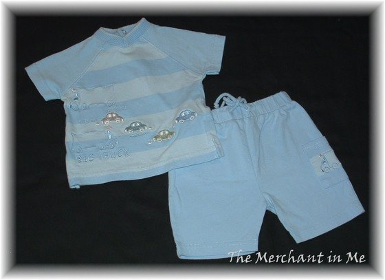 Infant Baby Boy Blue summer Short set minibasix 3 HCTS