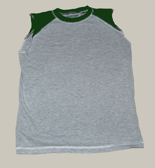 Boys Old Navy green grey tank top L large 10 12 HCTS