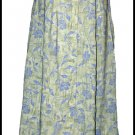 Green blue print Challis Skirt Petite Small S