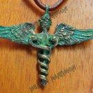 Hermes caduceus pendant, Talisman, pagan Amulet