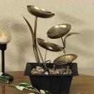 Sunnydaze Four Leaf Cascading Tabletop Fountain with LED Lights