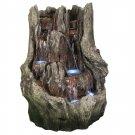 Cascading Mountain Falls Outdoor Water Fountain w/ LED Lights by Sunnydaze Decor