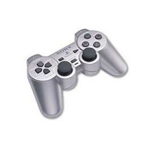 PS2 RARE - Sony PS2 Genuine Silver DualShock Controller
