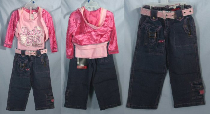 4 piece baby girl set 0487c