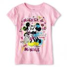 """Mickey And Minnie Mouse """"Awesome"""" T Shirt Girls Size 2"""