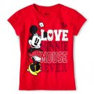 "Disney Minnie Mouse ""Love"" Tee Size  3"