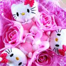 Lovely Hello Kitty Bouquet Birthday Gift Valentine Gift Wedding Gift - Pink