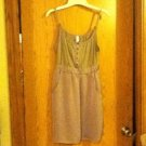 xhilartion Spaghetti-Strap Pocketed Tunic Top in Light Brown..FREE SHIP!!