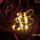 """Vintage """"DANCE THE NIGHT AWAY"""" Brushed Gold Alloy Pin/Brooch. FREE SHIP!"""