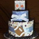 Clemson or USC Football Diaper Cake