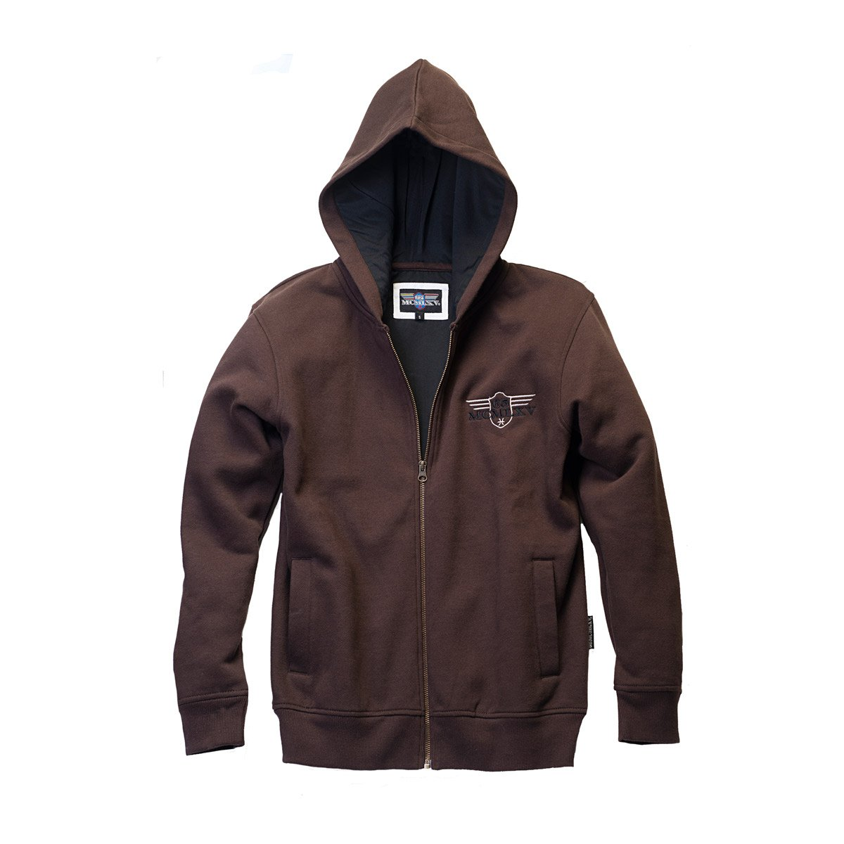 Men's Fleece Hoodie in Coffee