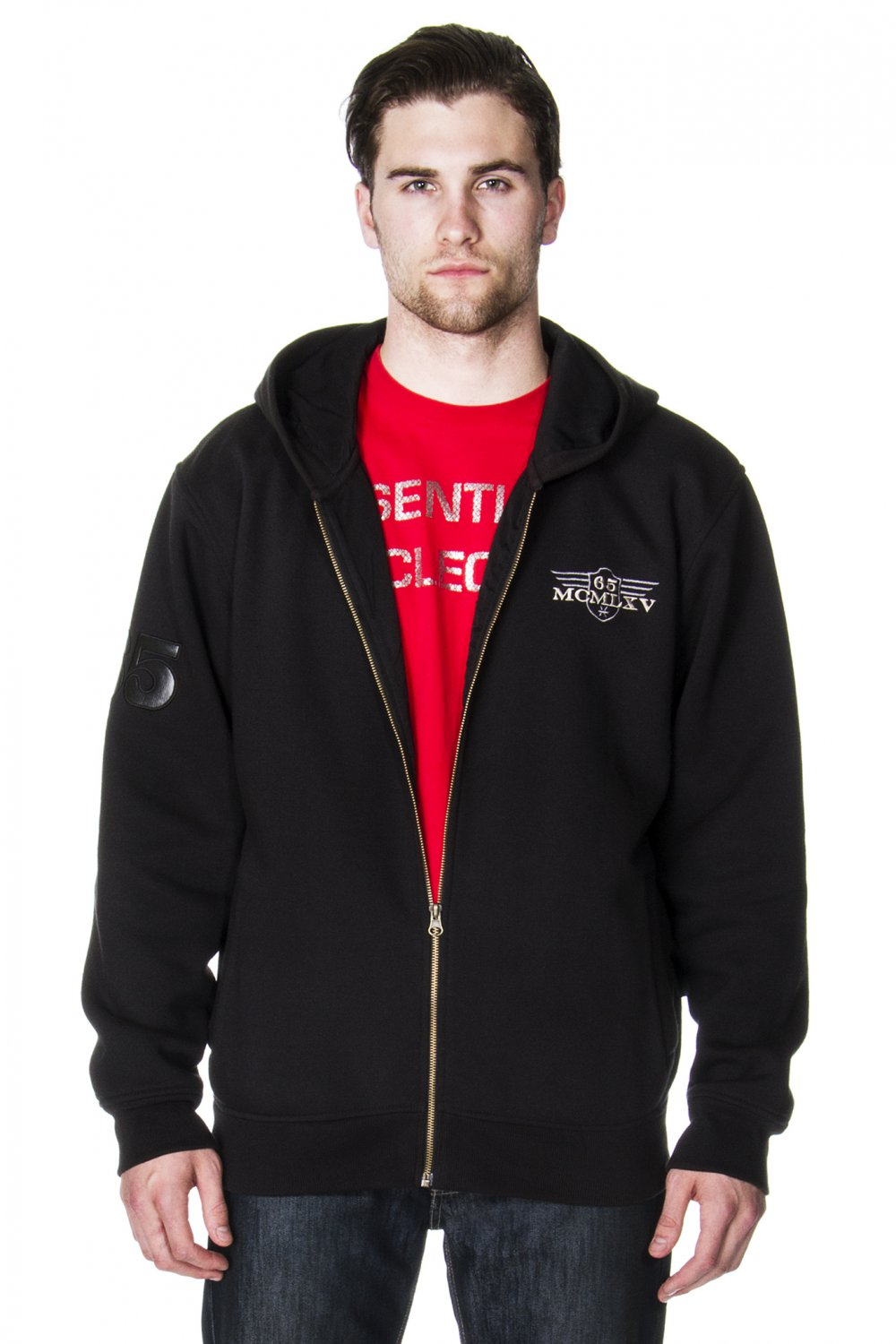 Men's Fleece Hoodie in Black