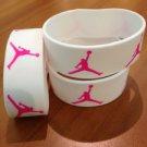 JORDAN Sport Silicone Wristband Bracelet  White-Pink