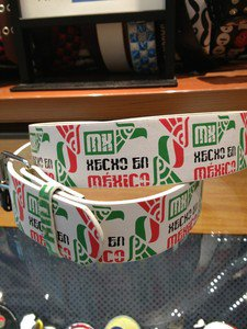 "Hecho En México White Leather Belt Mens/Womens Roller Buckle Sz Small 30""-32"""