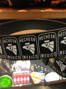 "Hecho En México  Black Leather Belt Mens/Womens Roller Buckle Sz Small 30""-32"""