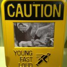 "LKNW Street Sign ""CAUTION"" Picture Frame Yellow & Black"