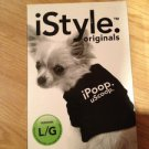 iPoop  uScoop.  dog shirt black size Large 21-35 Lbs.