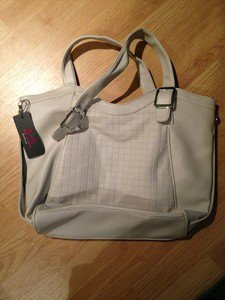 B & G Fashion Designer Handbag  Beige