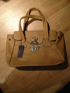 B & G Fashion Designer Handbag  Camel