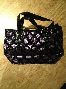 B & G Fashion Designer Handbag  Purple