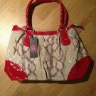 B & G Fashion Designer Handbag  Cream