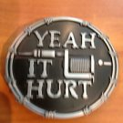 YEAH IT HURT Tattoo Machine Belt Buckle Unique Metal New Hip Cool