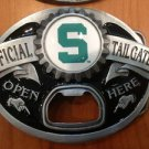 MICHIGAN STATE SPARTANS TAILGATER BOTTLE OPENER BUCKLE