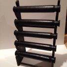 Black solid wood 5 bar bracelet display  (5 displays )