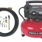 NEW! PORTER-CABLE C2002-WK Oil-Free UMC Pancake Compressor with Accessory Kit